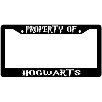 low-cost Property Of Hogwarts Chrome Plastic License Plate Frame ...