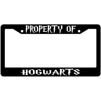 Amazon.com: Property Of Hogwarts Glossy Black Plastic License Plate ...
