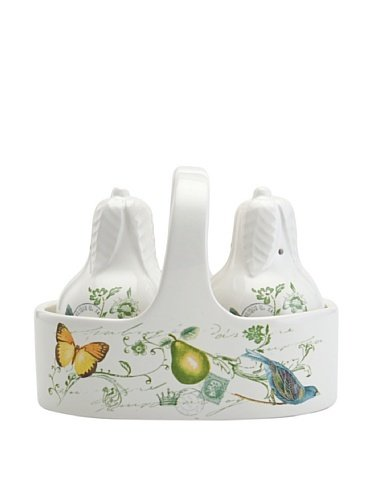 Mikasa Antique Countryside Pear Salt & Pepper with Caddy ()