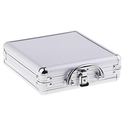 Chip Capacity 300 Case - MonkeyJack 100/200/300/500pcs Capacity Poker Chips Aluminum Case Container Poker Chips Storage Box Poker Chips Suitcase - Silver, 100pc