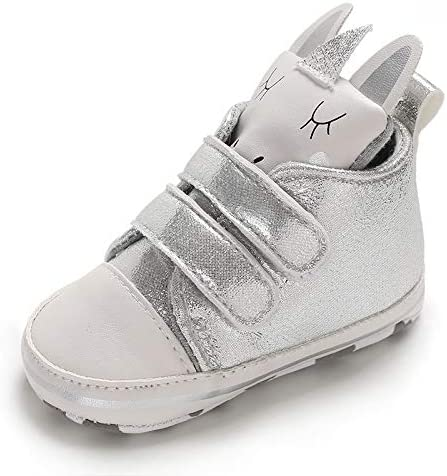 Unisex Baby High-Tops Sneakers Toddler Soft Sole Cartoon First Walkers Shoes