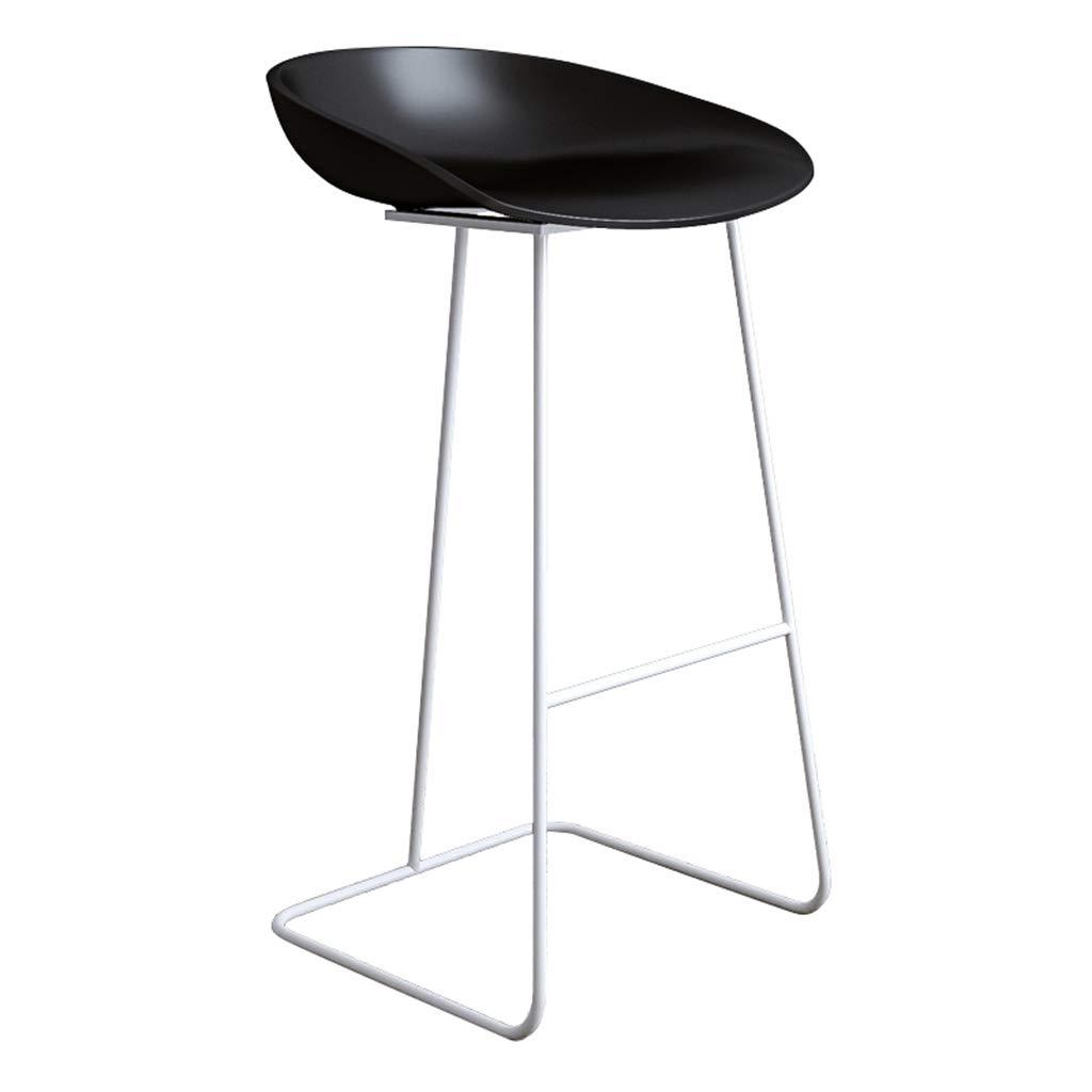 Black-white 65cm DingHome-ca Barstool - Wrought Iron Simple Fashion Breakfast High Chair Creative Bar Stool gold Kitchen Bar Counter