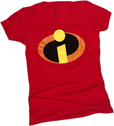 Uniform Costume -- The Incredibles Crop Sleeve Fitted Juniors T-Shirt, Large (The Incredibles Woman)