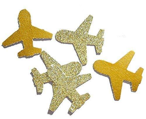 Konfetti Flugzeug gold glitter (handgemacht Konfetti)