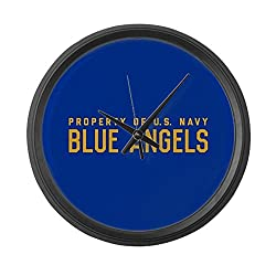 CafePress - Property Of U.S. Navy Blue Angels - Large 17 Round Wall Clock, Unique Decorative Clock