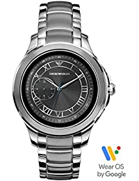 Men's Stainless Steel Touchscreen Smartwatch, Color: Silver-Toned (Model: ART5010)
