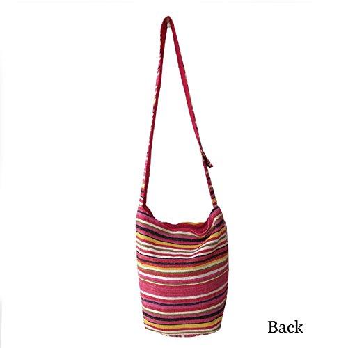 Multicolor Stripes design Handloom Cotone Jhola Tracolla Collegio Borsa