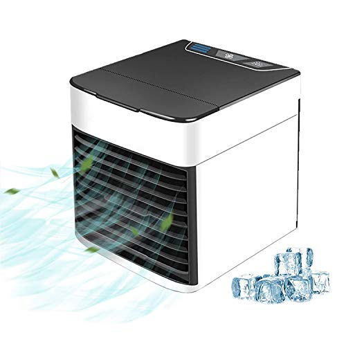 RosyBeat Portable Air Cooler, Mobile Cooling Air Conditioner with USB, 3 in 1 Mini Mobile Personal Space Cooler Air Ultra, Humidifier, Purifier Desktop Cooling Fan for Office (air Cooler) ()