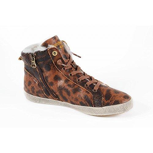 PANTOFOLA D ORO Damen Sneaker 2 High Stafania Leoptil Hellbraun Größe 37