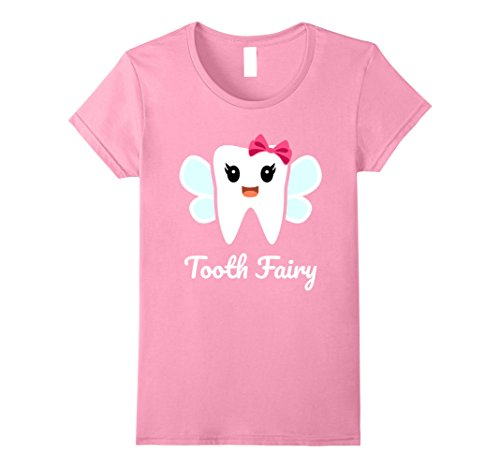 Womens Tooth Fairy Costume T-Shirt Small Pink (Toddler Tooth Fairy Costume)