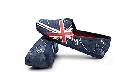 Amazon.com | Jackdaine Men Lazy Casual Canvas Shoes Flag Carrefour Shoes | Shoes