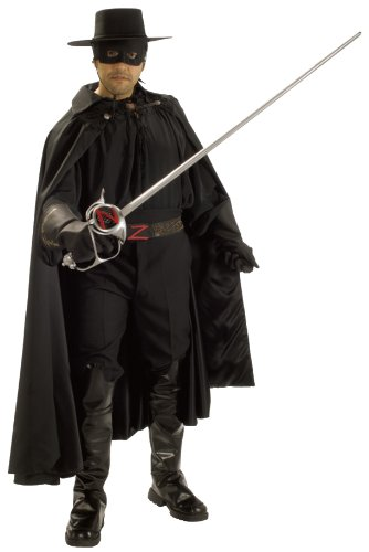 Zorro Grand Heritage Collection Deluxe Costume, Black, Standard