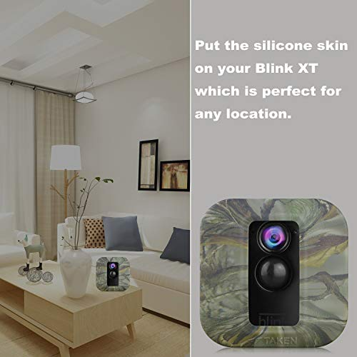 Blink XT Case, Silicone Skin for Blink XT2/XT Outdoor Home Security Camera UV and Water-Resistant, Indoor Outdoor Blink XT2/XT Protecting Case, 4 Pack, Camouflage