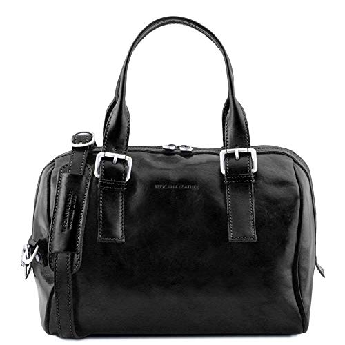 cuir Eveline Noir TUSCANY LEATHER Sac en main TL141714 à 7wPYU1