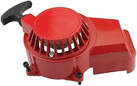 DishKooker 47-49CC Alloy Pull Starter Start Mini Dirt Pocket Bike Quad ATV 2 Stroke ( red )