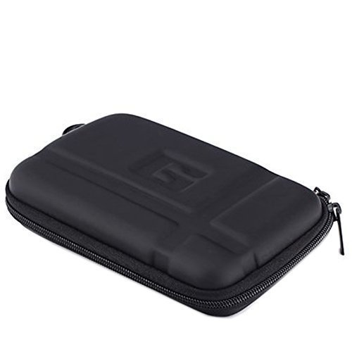 Topepop Black 5.2 inch Carrying Waterproof Hard Skin Cover Case Bag Pouch Universal for 5-inch Garmin Nuvi 52lm 55lm 2450 2460 2595lmt 2559LMT 2589LMT Magellan Roadmate 5045