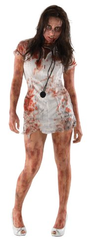 Inspired by The Walking Dead Adult Zombie Nurse Costume , Multicolored, -