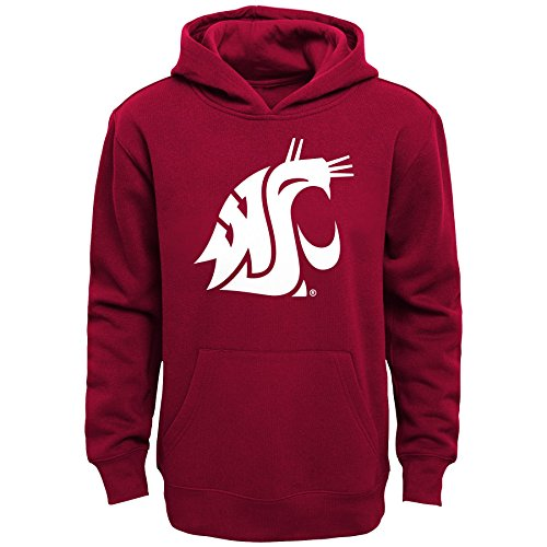 "NCAA Washington State Cougars Boys 8-20 ""Primary Logo"" Fleece Hoodie, Victory Red, XL(18)"