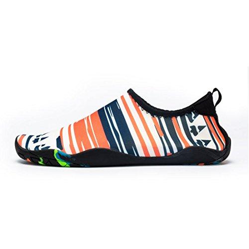 Cool&D Unisex Aquaschuhe Aqua Schuhe Wasserschuhe Atmungsaktiv Strandschuhe Schwimmschuhe Badeschuhe Surfschuhe für Damen Herren Kinder Mehrfarbig