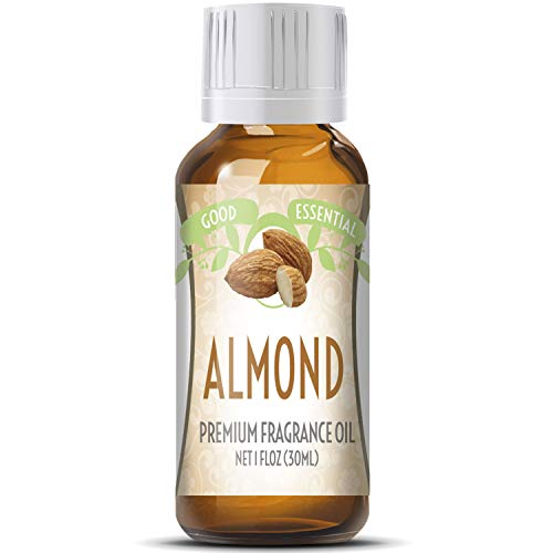 Almond Scented Oil by Good Essential (Huge 1oz Bottle - Premium Grade Fragrance Oil) - Perfect for Aromatherapy, Soaps, Candles, Slime, Lotions, and More!