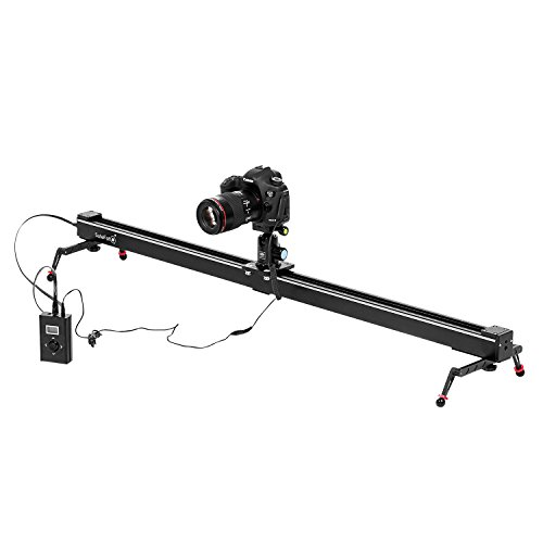 Dazzne 39.37 inch Electronic Motorized Camera Slider DSLR Camera Track Dolly slider Video Stablilzer Rail with Time Lapse Tracking Panoramic Video Shooting, Perfect Photograph Movie Film Video Making by Dazzne