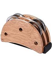 Abarich Foot Jingle Tambourine,Elliptical Cajon Box Drum Companion Accessory Foot Jingle Tambourine for Hand Percussion Instruments Black