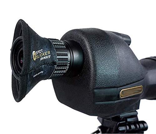 SpotSlicker Bandit - Water-Resistant Spotting Scope Eyeshield to Block Glare and Reduce Eye-Strain- Stealth Shadow
