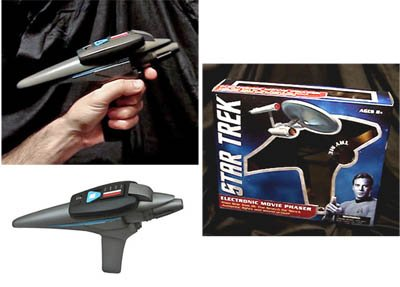 Star Trek III Movie Phaser Electronic Prop Replica(TWO) - Diamond Select Toys - Factory-Sealed UNCIRCULATED - Sound and Light Effects - Has dents in display box, See Photos.