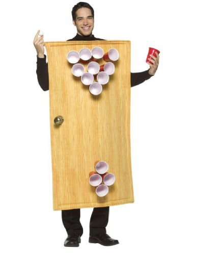 Cup Costume Pattern (Rasta Imposta Beer Pong Costume 14 Cups Included, Brown, One Size)