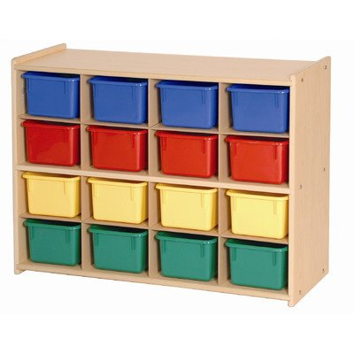 Steffy Wood Products 16-Tray Storage Cabinet