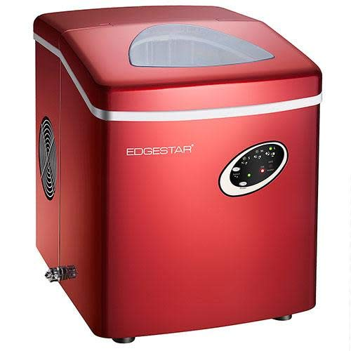EdgeStar IP210RED Red Portable Countertop Ice Maker