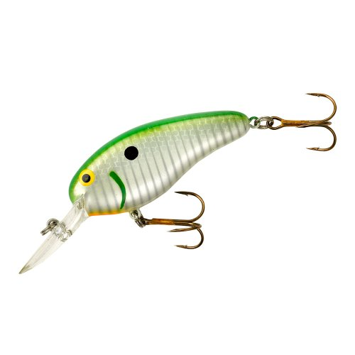 Bomber Deep Flat A Fishing Lure, Pearl Shad, 2 1/2-Inch, 3/8-Ounce