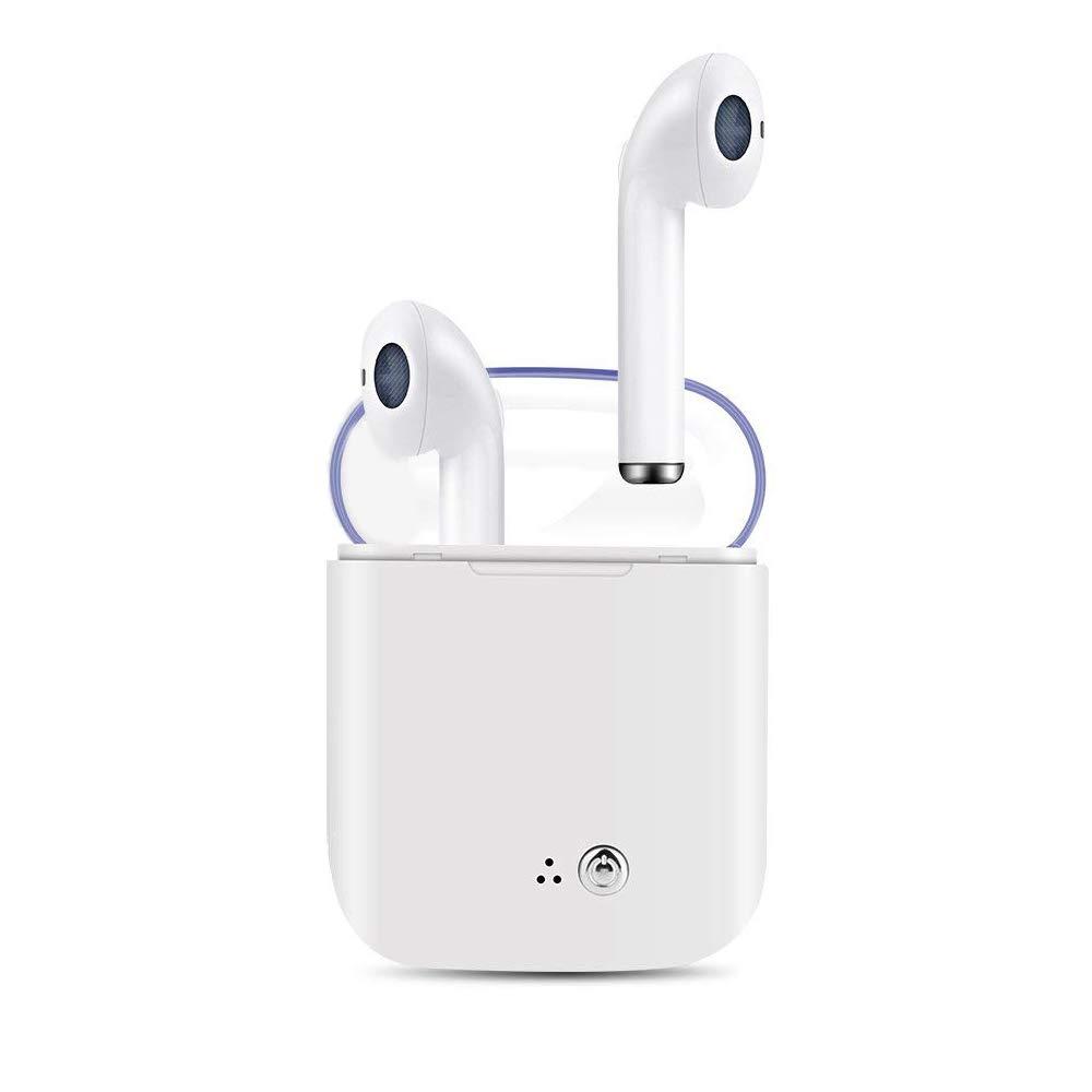Auriculares inalámbricos Bluetooth Blancos,útiles para quienes practican Deportes, para Escuchar música.Auriculares