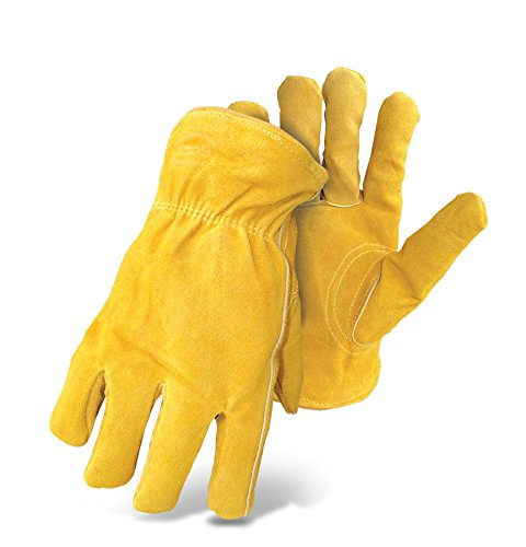 (Boss Gloves 7186L Therm Insulated Split Deerskin Leather Driver,)