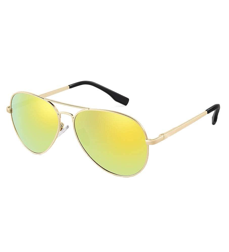 gold frame orange yellow tablets YOJDTD Glasses sunglasses night vision goggles sunglasses polarizer