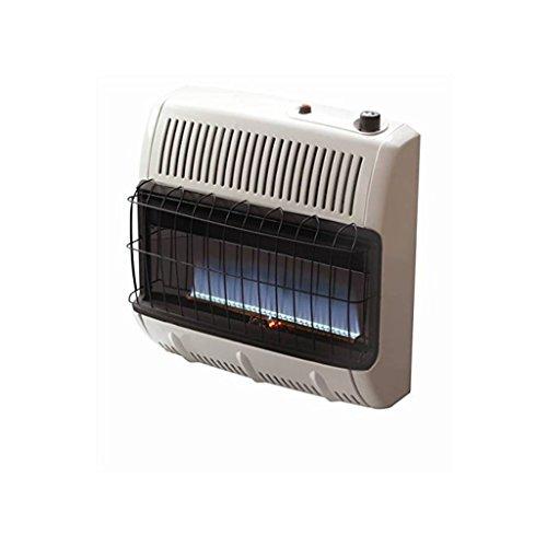 Mr. Heater Vent Free Flame Natural Gas Heater, 30k BTU, Blue