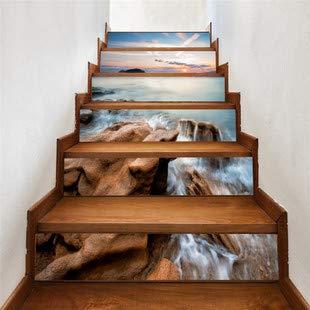 Pegatinas de escaleras(100 * 18cm)13pcs Clásico hermoso ...
