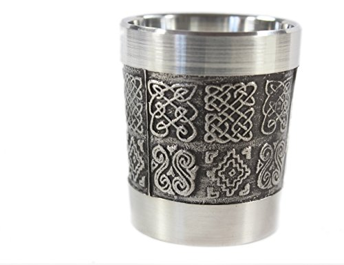 Irish Shot Glass Celtic Knots Pewter 1 Fl. Oz. Made in Ireland