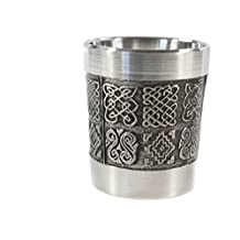 Whiskey Measure Pewter Celtic Knots Made in Ireland by Mullingar Pewter
