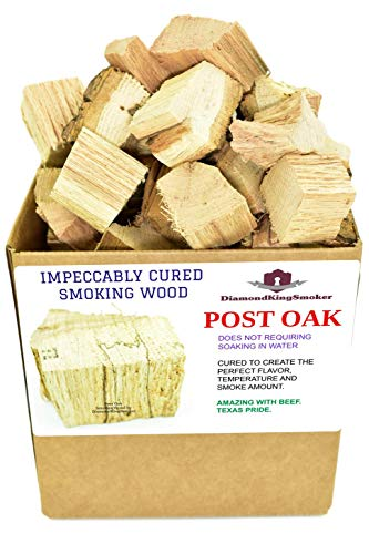DiamondKingSmoker Smoking Wood Chunks 100% All Natural Barbecue Smoker Chunks for Grilling and BBQ | Large Cut Smoker Chips | Season Air-Dried for Premium Flavor Profile (Post Oak, 14 lbs)