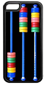 Abacus- Case for the APPLE IPHONE 6 ONLY!!! NOT COMPATIBLE WITH THE IPHONE 6 PLUS!!!-Hard Black Plastic Outer Case with Tough Black Rubber Lining