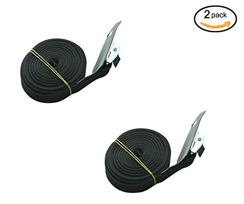 Surfboard/Kayak/SUP Tie-down Lashing Strap up to 600lbs, 1 inch X 12 foot with ZINC PLATED STEEL CLAMP Buckle by IZTOSS
