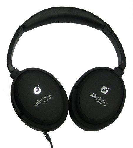 ABLE PLANET NC300B True Fidelity Around-the-Ear Active Noise Canceling Headphones (Black) (Discontinued by Manufacturer) Ableplanet Noise Canceling Headphones