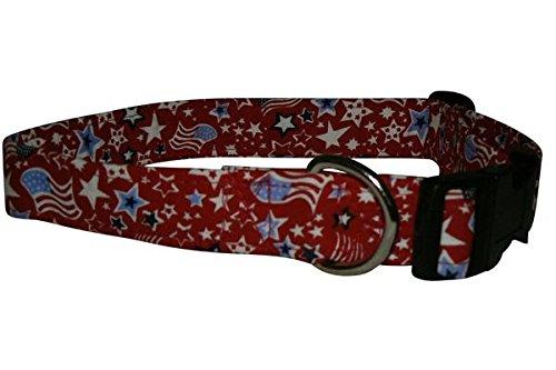- Elmo's Closet Flags & Stars Dog Collar - Medium