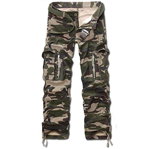 Con Battercake Cerniera Airborne Gruen Comodo Pantaloni Casual Da Vintage Tasche Militari Camo Uomo Cargo wPwx8ArqZ
