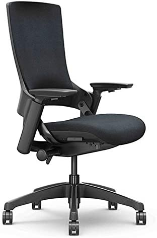 CLATINA Ergonomic High Swivel Executive Chair with Adjustable Height 3D Arm Rest Lumbar Support and Upholstered Back for Home Office BIFMA Certified Black New Version