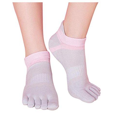 Women Toe Socks Five Finger Socks, Inkach Stylish Girls Cotton Breathable Running Socks Lightweight Sports Trainer Toe Finger Socks C