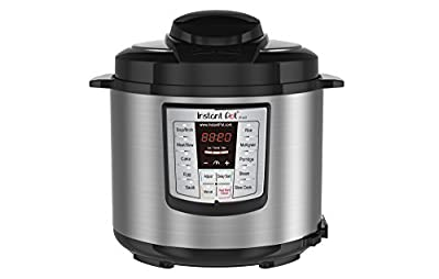 Instant Pot LUX60V3 6-in-1 Muti-Use Programmable Pressure Cooker, Slow Cooker, Rice Cooker, Sauté, Steamer, and Warmer