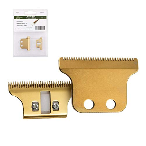 Cosyonall Professional T-Shaped Hair Clipper/Trimmer Standard Replacement Blade Set #2215-Compatible with Sterling Stylist and Sterling 5-Includes screws & cam follower (Gold) (Wahl 5 Star Detailer T Blade Trimmer)