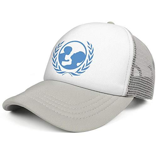 (ZWZHI UNICEF Men Women Classic Mesh Ball Cap Snapback Adjustable Sun)